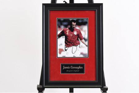 Jamie Carragher Framed Signed Photo