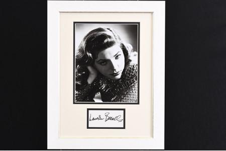 Lauren Bacall Framed Autograph