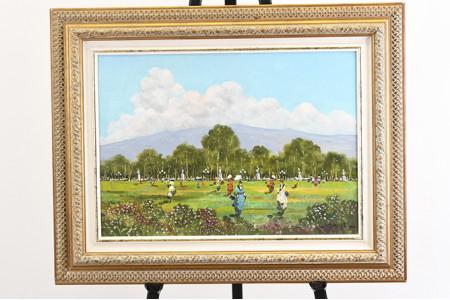 Framed Italian Oil on Canvas