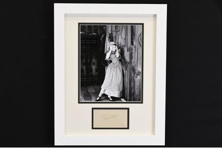 Lillian Gish Framed Signature