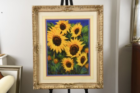 "Anthony Orme ""Sunflowers"" Painting"