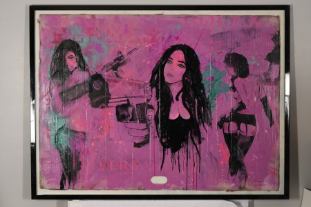 Amazing Very Large Original Painting by Chas Williams
