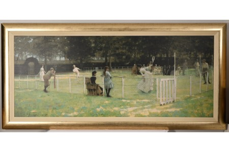 """Large Limited Edition """"The Tennis Party"""" by Sir John Lavery."""