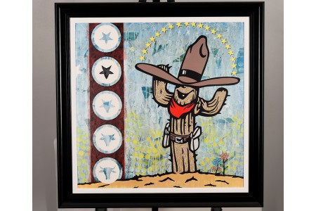 """Limited Edition on canvas """"Cactus Cowboy"""" by Adam Green"""