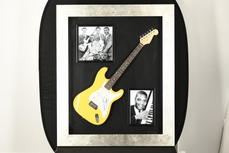 Framed Guitar with Authenticated Booker T signature