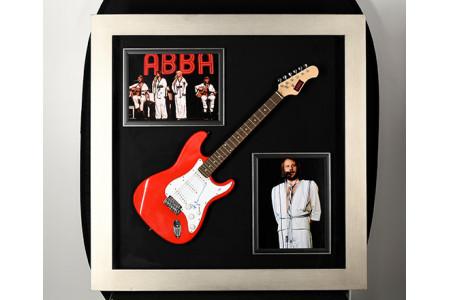 Framed Guitar with Abbas Benny Andersson Original Signature