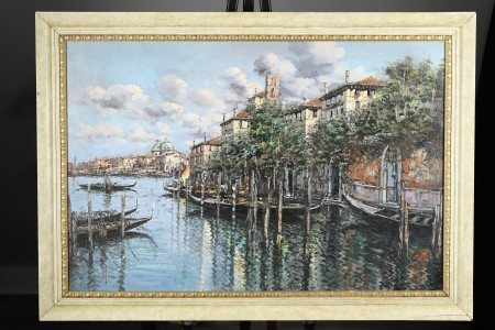 Original Italian Oil on Canvas of Venice.