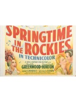 Spring Time in the Rockies Original Poster on Canvas