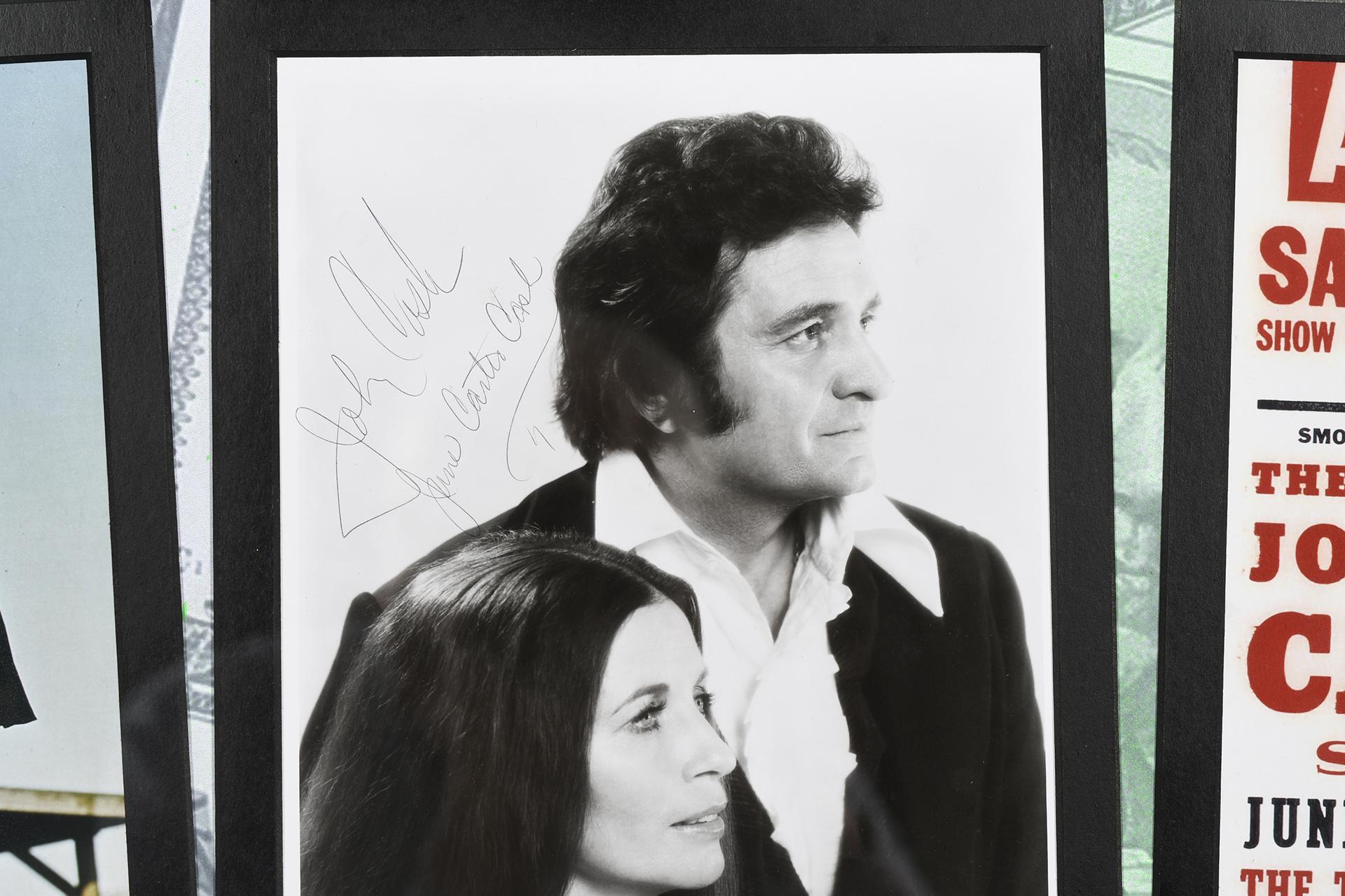 Johnny Cash Framed Art Presentation with Original Signature