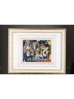 """Rare Limited Edition Pablo Picasso on Silk. """"Les Femmes d'Alger"""". 1 of only 85 ever Published"""