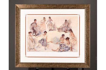 "Limited Edition Gouttelette by Sir William Russell Flint. ""Variations on a Theme"". Supplied with Rare Sir Russell Flint Book."