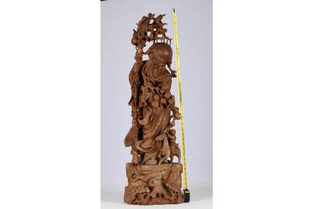 Carved Sandalwood Figure