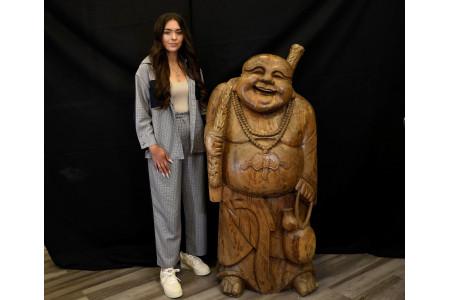 Large Wodden Carved Buddha