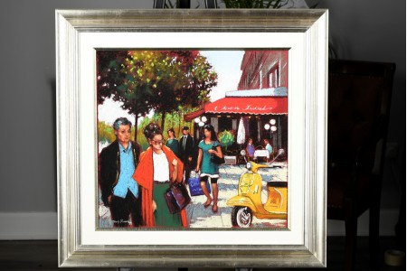 Original Parisian Pastel Painting by Tony Rome