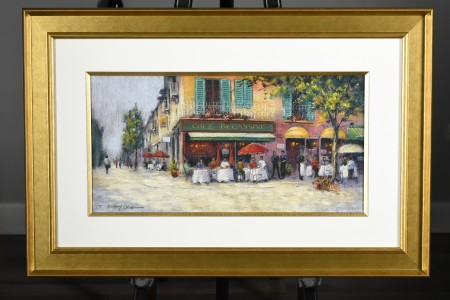 Colourful Original Painting of French Scene by Anthony Orme