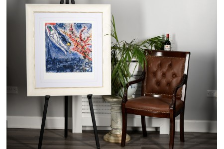 """Limited Edition Marc Chagall """"Flowers Over Paris"""" 1 of only 50 Worldwide."""