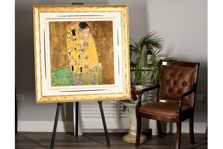 """The Kiss"" by Gustav Klimt One of a Rare Exclusive 22ct Gold Leaf Embellished Limited Edition 1 of only 95 Worldwide."