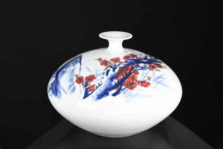 Small Neck Porcelain Hand Made Art Vase