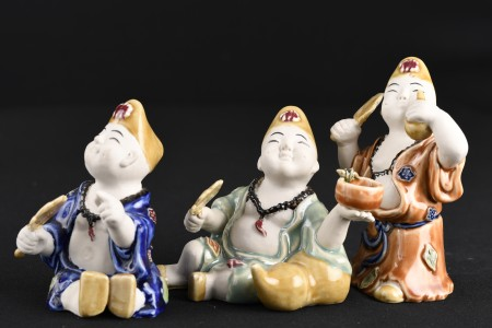 Set of 3 Porcelain Chinese Figures.