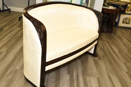 Handmade Solid Rosewood Upholstered Sofa