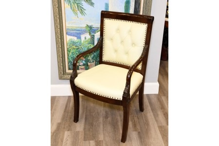 Rosewood and Leather Arm Chair