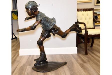4ft High Heavy Bronze Art Sculpture