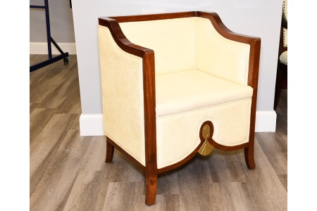 Solid Rosewood Frame Upholstered Chair