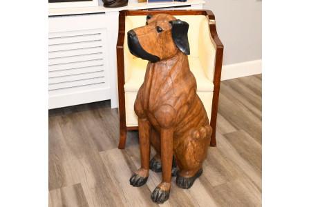 Life Size Wooden Dog