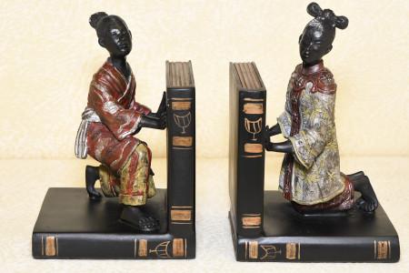 Oriental Brass Book Ends