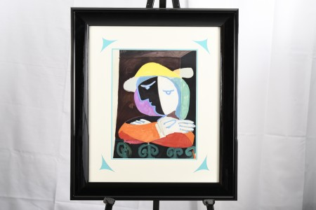 "Limited Edition Lithograph  by Pablo Picasso ""Femme au Balcon"" from the Marinna Picasso Collection"