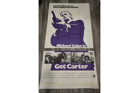 "Large 2 Metre Original Cinema Poster ""Get Carter"""