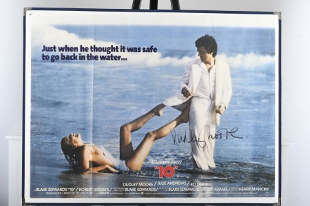 """Original """"10"""" Cinema Poster Signed by Dudley Moore"""