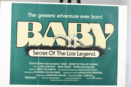 """Original Film Poster from """"Baby: Secret of the Lost Legend"""""""