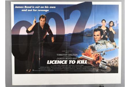 "Original ""Licence to Kill"" Cinema Poster"