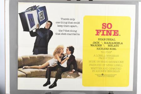 "Original ""So Fine"" Film Poster"