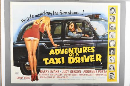 "Original ""Adventures of a Taxi Driver"" Film Poster"