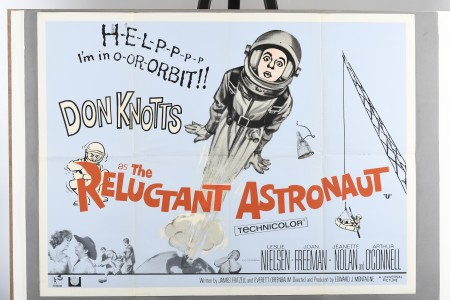 "Original ""The Reluctant Astronaut"" Film Poster"
