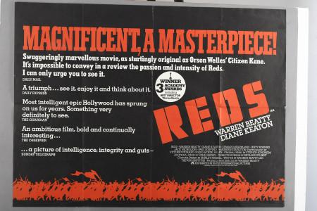 """Original """"Reds"""" Film Poster"""