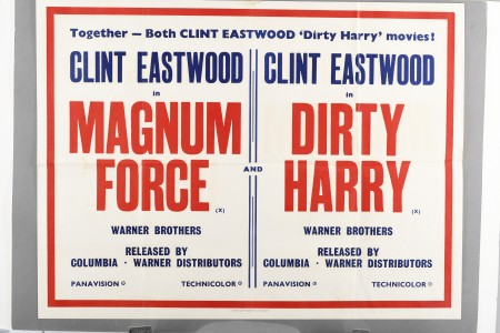 """Original Dual Cinema Poster of """"Magnum Force"""" and """"Dirty Harry"""""""