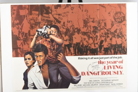"""Original """"The Year of Living Dangerously"""" Cinema Poster"""