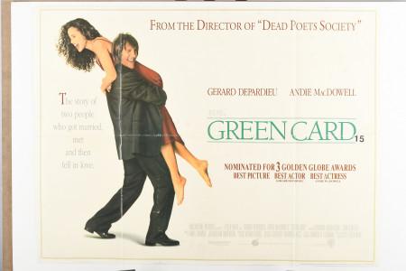 "Original ""Green Card"" Film Poster"