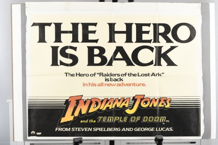 """Original """"Indiana Jones and the Temple of Doom"""" Promotional Poster"""