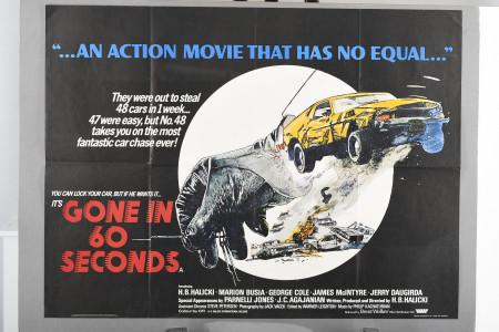 "Original ""Gone in 60 Seconds"" Cinema Poster"