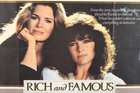 """Original """"Rich and Famous"""" Cinema Poster"""
