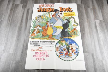 """""""Jungle Book"""" and """"Mickeys Christmas Carol"""" 60""""x40"""" Cinema Poster"""
