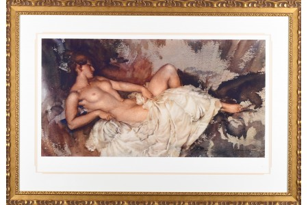 """Russell Flint Limited Edition """"Reclining Nude"""""""