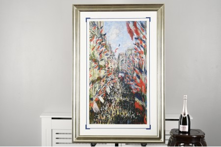 """Claude Monet Limited Edition (1 of only 50 Published Worldwide) Titled """"Rue Montorgueil, Paris-Celebration of June 30, 1878"""""""