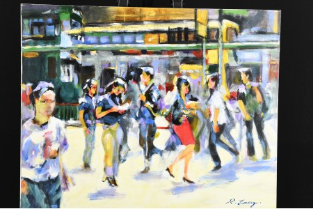 Original painting by English artist Lacy.
