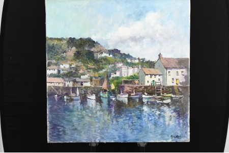 John Ambrose Original Oil on Canvas. Cornwall Scene.
