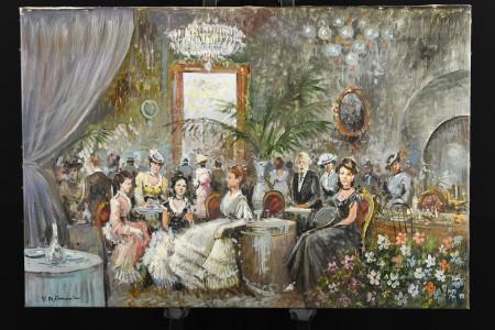 """Cafe Parigino"" by Italian artist Dominici."